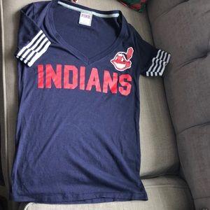 Pink Atlanta Indians baseball tee